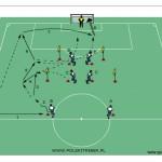 Ćwiczenie taktyczne w ustawieniu 1-4-4-2.